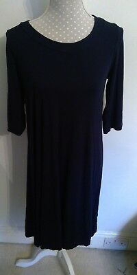 Join Clothes Scoop Neck Jersey Dress - Navy - - Grecian Attire