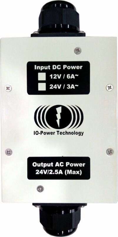 IO-Power IOP-DAPI-12243A-2 Input 12VDC to 24VAC Outdoor IP67 Power Inverter