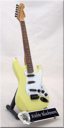 RITCHIE BLACKMORE Miniature Guitar Deep Purple w/ Guitar Pick
