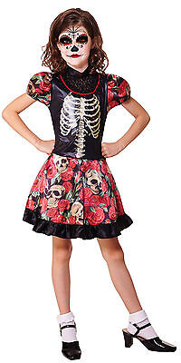 Girls Childs Mexican Day of the Dead Halloween Corpse Bride Fancy Dress Costume](Corpse Bride Girls Costume)
