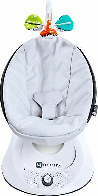 4moms - 4moms® rockaRoo® infant seat| Compact Baby Swing | Grey Classic - Grey