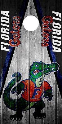 SINGLE Florida Gators Cornhole Wrap Skin Decal Vinyl Board Game Vintage -