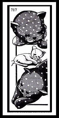 "CAT Fabric Sewing Pattern 717 Stuffed KITTY KITTEN FELINE Animal TOY 12"" Sleepin"