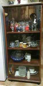 Wooden Glass cuttlery cabinet or show case Bankstown Bankstown Area Preview