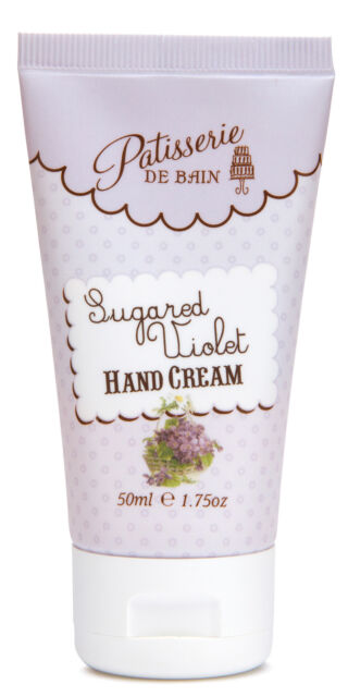 Rose And Co Patisserie De Bain SUGARED VIOLET Hand Cream Tube 50ml