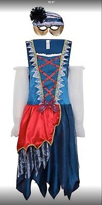 Womens princess pirate masquerade halloween costume with mask size 16/18 New