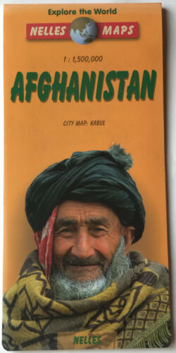 Afghanistan Kabul city map Street Map by Nelles Maps