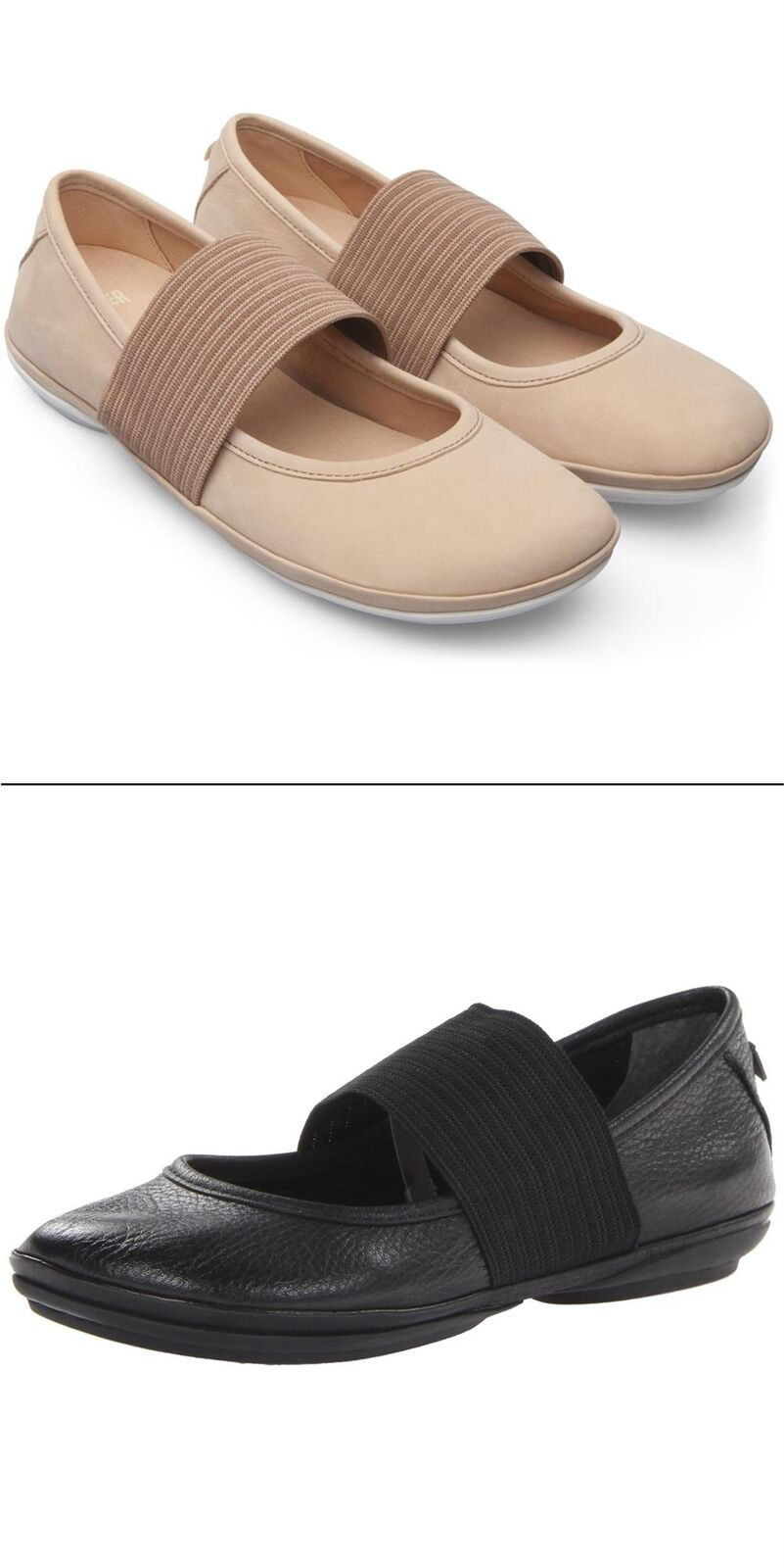 NEW Women's CAMPER Right Nina Mary Jane Ballet Leather Flats Slip On Shoes 1