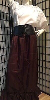 MEDIEVAL PEASANT RENAISSANCE PIRATE BAR WENCH DRESS & VINYL CORSET - Renaissance Bar Wench Costume
