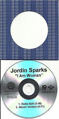 Jordin Sparks I Am Woman W  Rare Radio Edit Tst Press Promo Dj Cd Single Jordan
