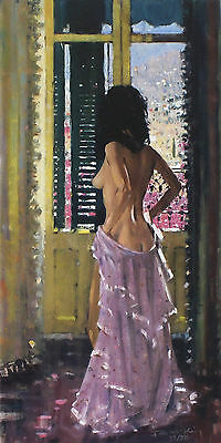"""ROBERT KING """"Andalucian Window"""" nude woman SIGNED! SIZE:54cm x 31cm SEE OUR SHOP"""