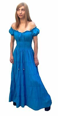 Gypsy Pirate Costume (RENAISSANCE COSTUME MEDIEVAL PIRATE GYPSY WENCH HALLOWEEN CHEMISE DRESS)