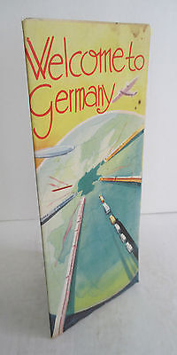 WELCOME TO GERMANY circa 1936 Travel Brochure, Illustrated