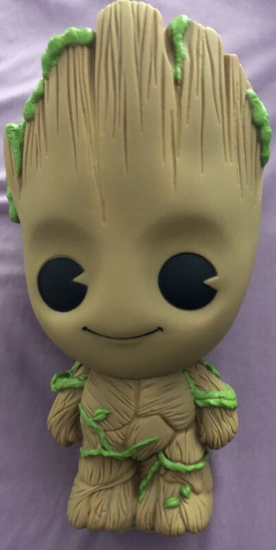 """Groot PVC Bust Coin Bank 3D Toy Figure Piggy Coin Bank Collector 9"""""""