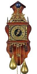 Dutch Zaanse Atlas Wall Clock Nu Elck Syn Sin Vintage Pendulum