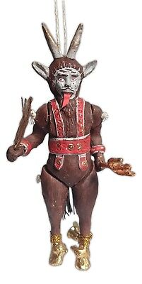 HOLIDAY KRAMPUS Hand-Painted Articulated Christmas Ornament, by Cody Foster - Painting Christmas Ornaments