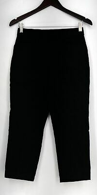 Susan Graver Petite Size Pants 4P Ultra Stretch Pull On Cropped Black A288161