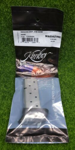 Kimber Micro 9 9mm Luger 8 Round OEM Magazine, Stainless Steel - 1200848A