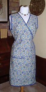 VINTAGE RETRO WWII WRAPOVER 1940S FANCY DRESS APRON - 2 SIZES 10/14 OR 16/20