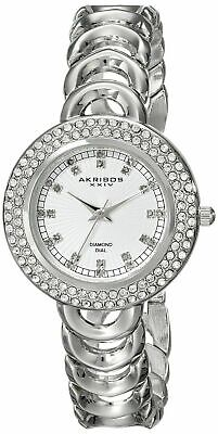 Akribos XXIV Women's AK804SS Metal Watch with Link Bracelet BRAND NEW