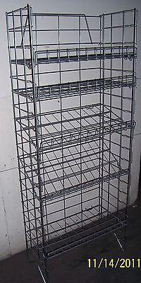 5-tier Multi-purpose Adjustable Wire Shelf Display Rack - Chrome Color