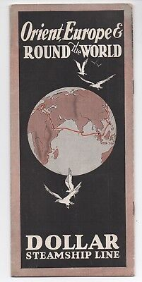 1920S Brochure Dollar Steamship Line Orient Europe And Around The World