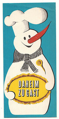 Werbe Prospekt Feinkost Betriebe DDR Daheim zu Gast 1966 Menükarte (D8 online kaufen