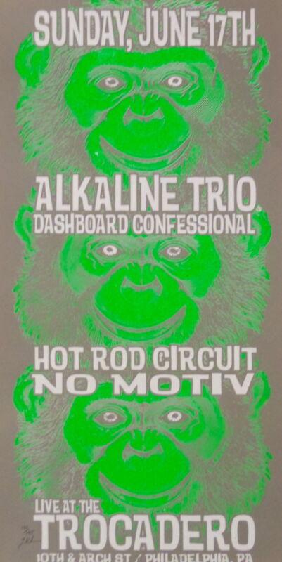 Alkaline Trio Concert Poster 2001 Grey