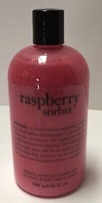 Philosophy Raspberry Sorbet - Philosophy RASPBERRY SORBET 3-IN-1 Shampoo Shower Gel & Bubble Bath 16 oz