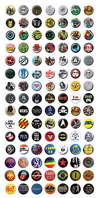 Button, Badge, Ansteck-Pin, 25 mm, DC-Comics, Marvel, Star Wars etc., lizensiert