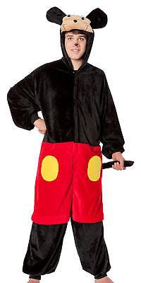 Mouse Herren Kostüm Plüsch Tiere Maus Micky Mickey - Herren Mouse Kostüme