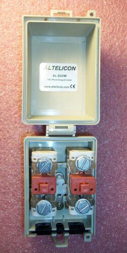 QTY (1) AL-D2VW-9 DSL PHONE SURGE ARRESTOR W/ DUAL 90V SUPPRESSION MODULES ROHS