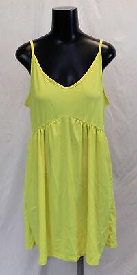 Boohoo Women's Plus Basic Cami Sundress LP7 Yellow Size US:14 UK:18 NWT