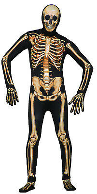 Skeleton Skin Suit (Deluxe Skeleton - Disappearing Man Skin Suit Adult)