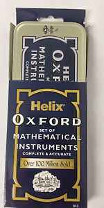 Helix Oxford Set Of Mathematical Instruments Geometry 9 Piece