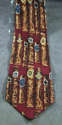 Ferrell Reed For Von Maur Maroon Cigars Italian Silk Novelty Hand Made Necktie