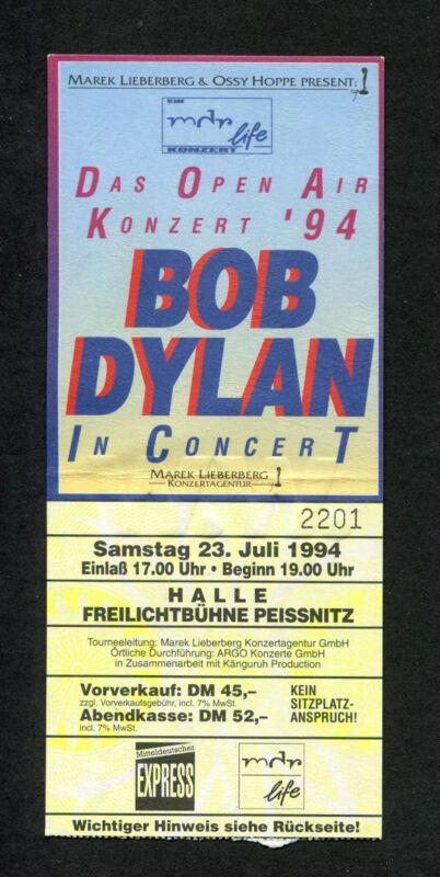 Original Bob Dylan 1994 Large Concert Ticket Stub Germany World Gone Wrong