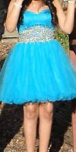 BEAUTIFUL OCEAN BLUE SHORT FORMAL DRESS WITH SEQUINS City North Canberra Preview