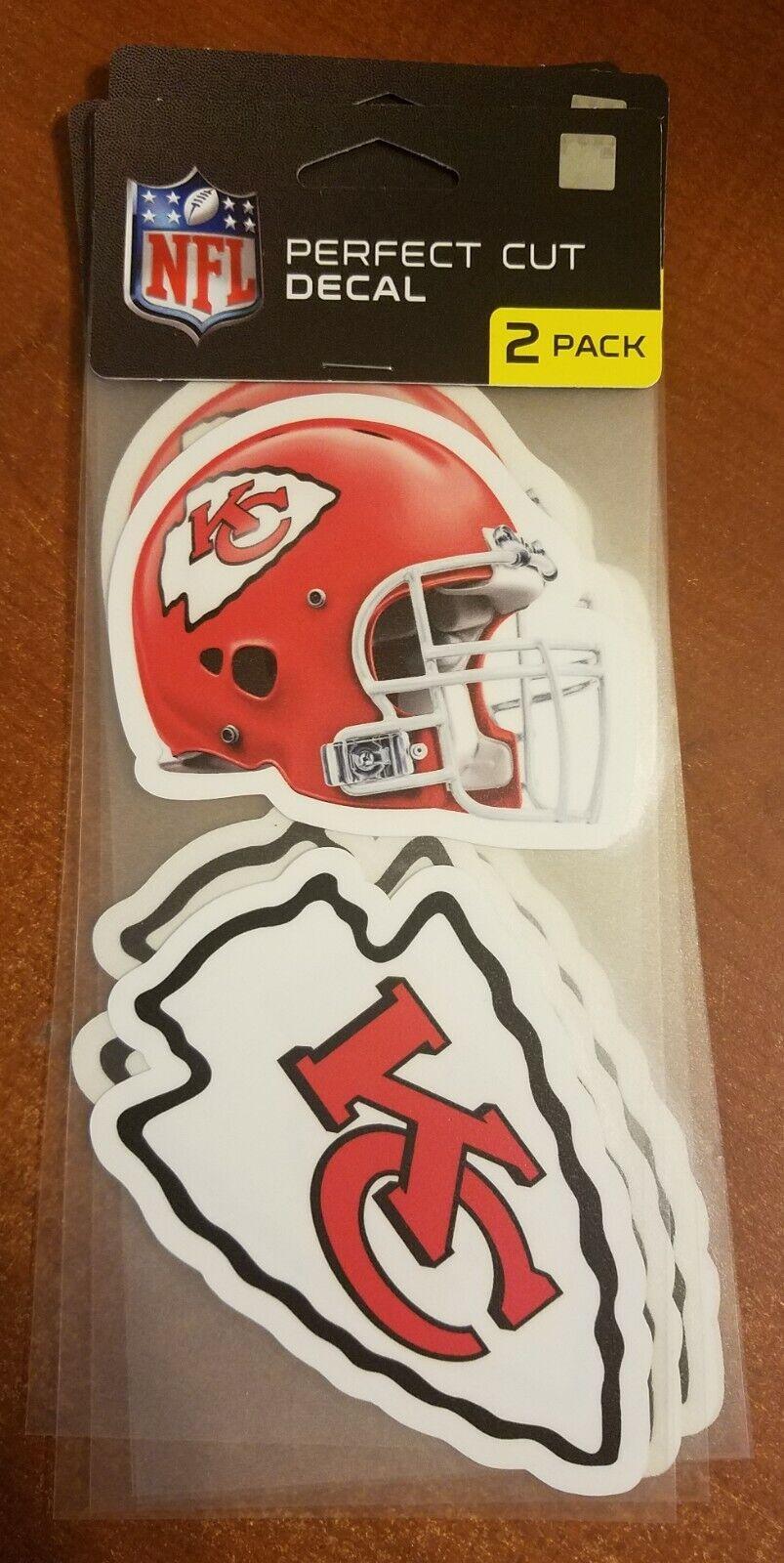 Kansas City KC Chiefs Wincraft Perfect Cut 4x4 Decal 2 Pack