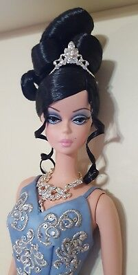 """""""The Soiree"""" Barbie Blue Gown Silkstone Fashion Model NRFB 2007 Gold Label"""