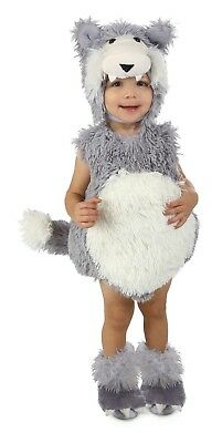 Infant Big Bad Wolf Costume Vintage Beau Toddler Baby Child - 18M - 2T - Baby Wolf Costume