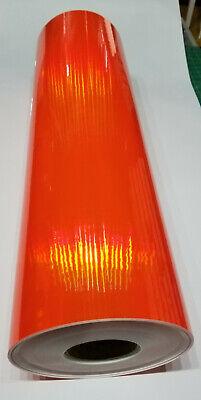 Fluorescent Orange Rainbow Oil Slick Sign Plotter Vinyl Film