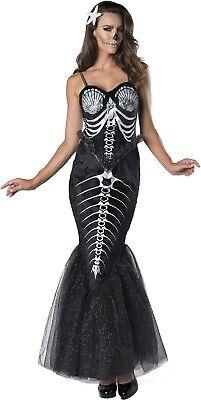 Adult Bones Skeleton Mermaid Gothic Costume