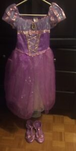Disney Rapunzel Costume (9-10)And Shoes (2-3)
