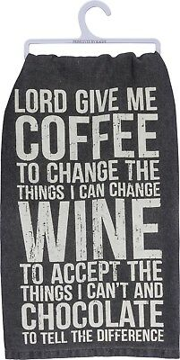 Lord Give Me Coffee To Change The Things I Can~Towel~Hand/Kitchen/Dish~Cotton ()