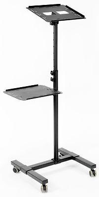 VIVO Black Projector & Laptop Adjustable Trolley Presentation Mobile Cart Stand