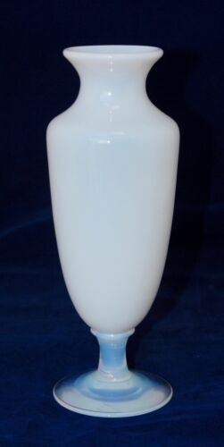 Vintage Signed SEVRES France Opalescent & Milk Glass Vase - 24cm