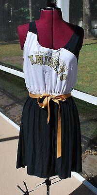 Univ of Central Florida UCF Knights Tank Dress Upcycled T-Shirts L (Knights Dress)