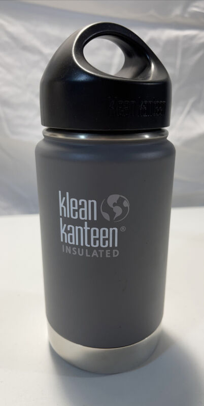 Klean Kanteen 12 oz Vacuum Insulated Bottle Hot & Cold 18/8 Stainless Steel Grey
