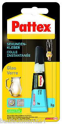 3g Glas (Pattex Glaskleber 3 g Sekundenkleber Blitz Sekundenglaskleber Glas)